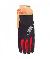 Перчатки Green Cycle NC-2581-2015 WindStop с закрытыми пальцами M черно-красные