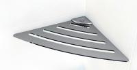 Угловая полочка для ванной комнаты металическая