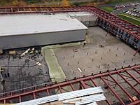 Устройство плоской кровли с разуклонкой легким бетоном.