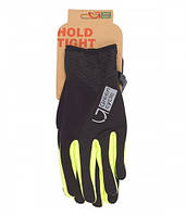 Перчатки Green Cycle NC-2581-2015 WindStop с закрытыми пальцами S черно-зеленые