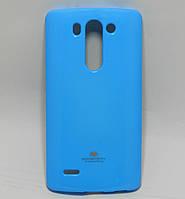 Чехол силиконовый на LG G3S BEAT D724, D722, D725, D728 Mercury, Голубой