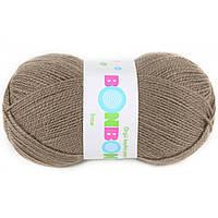 Пряжа для ручного вязания. Цвет: кофе с молоком.