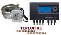 Электронная автоматика Euroster 11WB и турбина WAP 120 комплект для твердотопливного котла