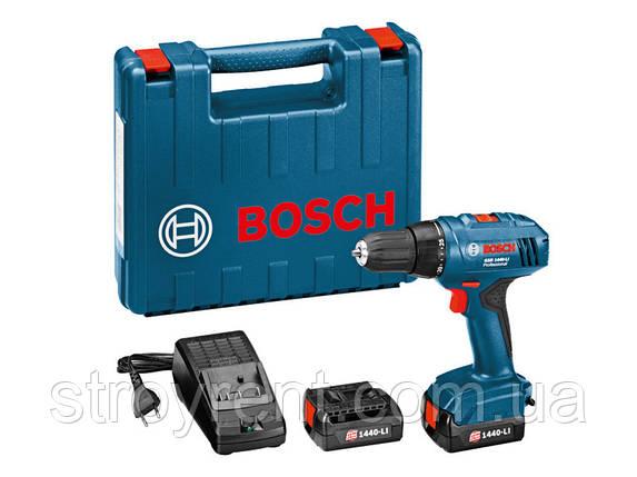 Аккумуляторный шуруповерт Bosch Professional GSR 1440-LI  - аренда, прокат, фото 2