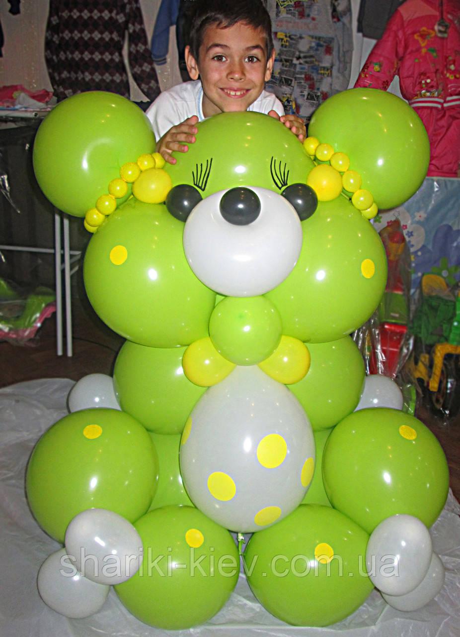 Большой Мишка Гвидо из воздушных шариков на День рождения