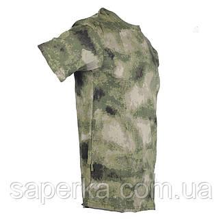 Футболка военная камуфляжная  A-TACS FG 100% Х/Б, фото 2