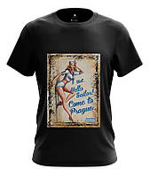 Оригинальная мужская футболка Vintage DTG