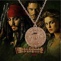 Кулон монета Ацтеков золото