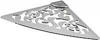 Угловая полочка для ванной комнаты металическая ажурная