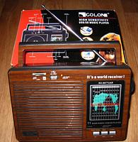 Радиоприёмник GOLON RX-9977UAR, портативное радио, фото 8