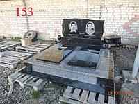 Памятник двойной из покостовского гранита и лабрадорита