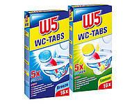 Таблетки для очистки туалета W5  Breeze/Lemon 16 шт