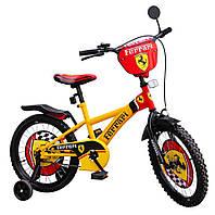 """Детский двухколесный велосипед 16 дюймов 111605 """"Ferrari"""""""