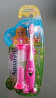 Зубная щетка Aqvarelle + подарок песочные часы