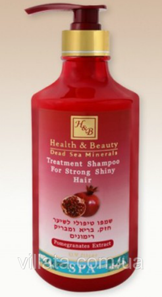 "Укрепляющий шампунь ""Гранатовый"" Health&Beauty Израиль 780 мл."