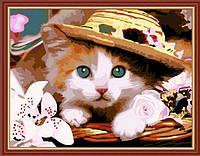 Картина по номерам Art Craft Котенок в шляпе (k5061) 40 х 50 см