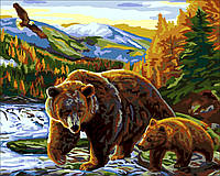 Картина по номерам Медведица и медвежонок (G351) 40 х 50 см