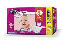 Подгузники детские Helen Harper Baby 3, ( 4-9 кг), 70шт