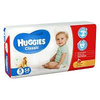 Подгузники HUGGIES Classic 5 (11-25kg) 58 шт.