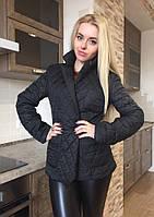 Куртка женская короткая на синтепоне - Черный