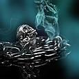 Серебряное байкерское мужское женское унисекс кольцо перстень для байкера череп Беспечный гонщик 18360 ст, фото 5