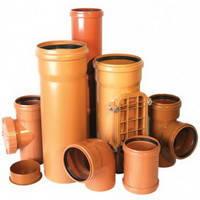 Трубы пвх и фасонные части для наружной каналицации