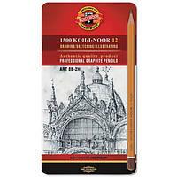 Набор карандашей 1502/II Art 12 штук металлическая упаковка Koh-i-Noor Hardmuth