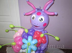 Фигура Лунтик из мультфильма с букетом из воздушных шариков на День рождения , фото 2