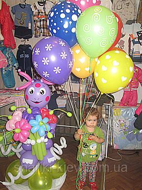 Фигура Лунтик из мультфильма с букетом из воздушных шариков на День рождения , фото 3