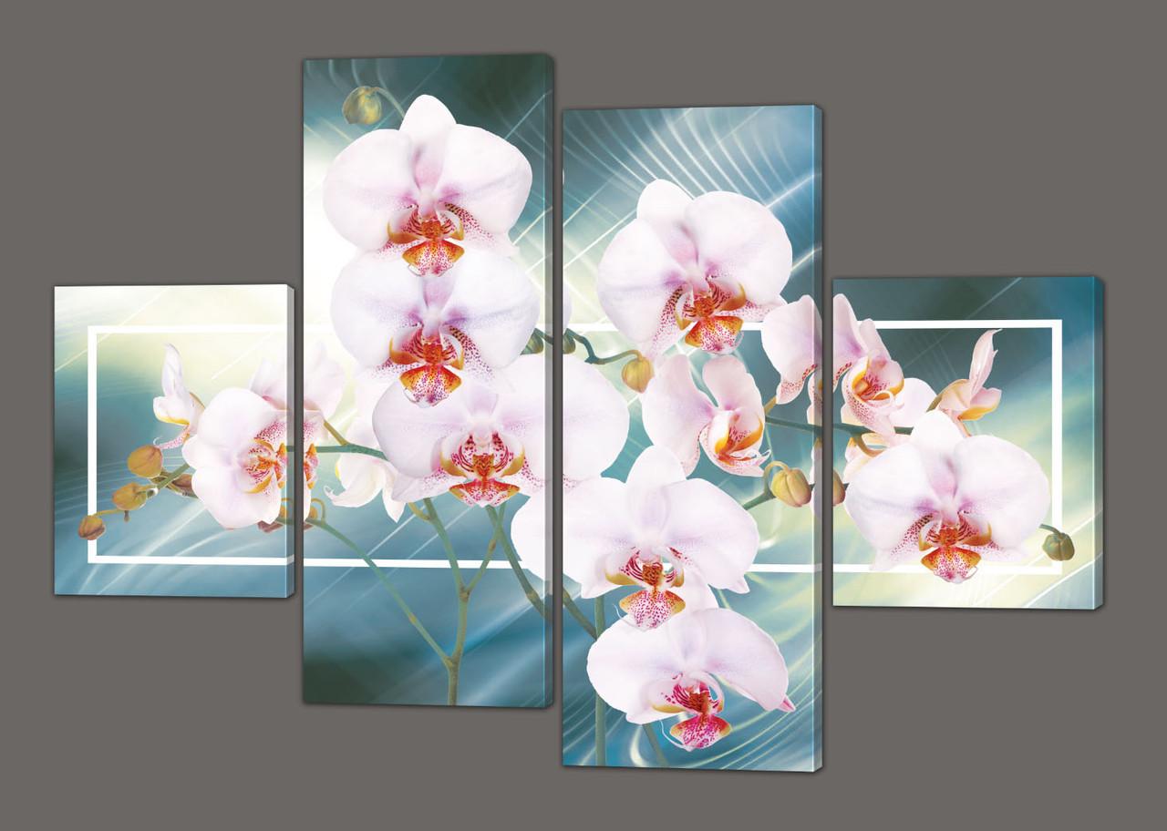 Модульна картина Орхідеї 120*93 см Код: 204.4 k.120