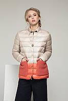 Элегантная женская куртка С-23 бежевая., фото 1