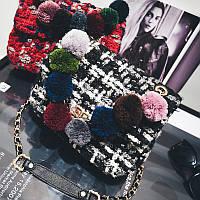 Твидовый клатч в стиле Chanel