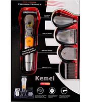 Машинка для стрижки Kemei KM 580-A 7 в 1 Аккумулятор, сменные насадки