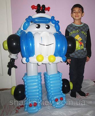 Фигура Робокар Полли из мультфильма из воздушных шариков на День рождения, фото 2