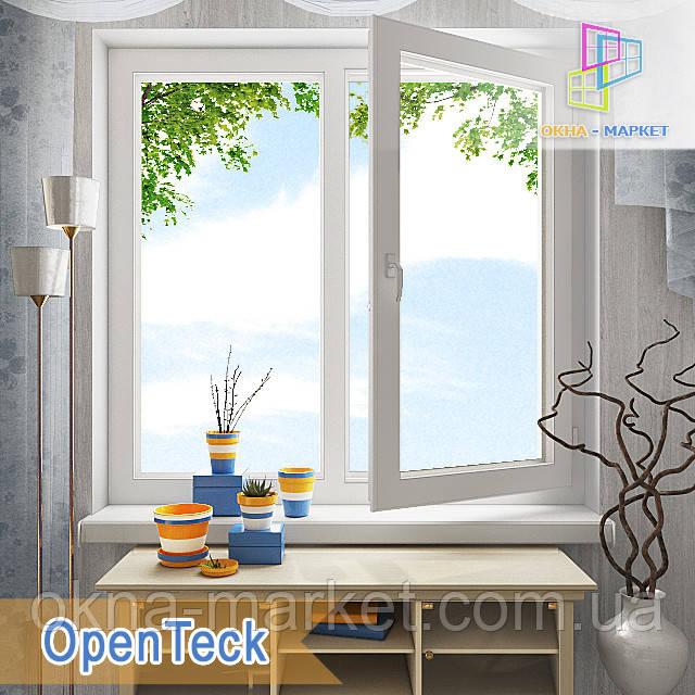 """Двостулкові металопластикові вікна 1200x1400 Openteck eco у Київі """"Вікна Маркет"""""""