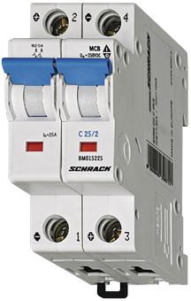 Автоматический выключатель BM4 2p C 25А (4,5 kA)