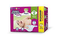 Подгузники детские Helen Harper Baby 2, ( 3-6 кг), 78шт