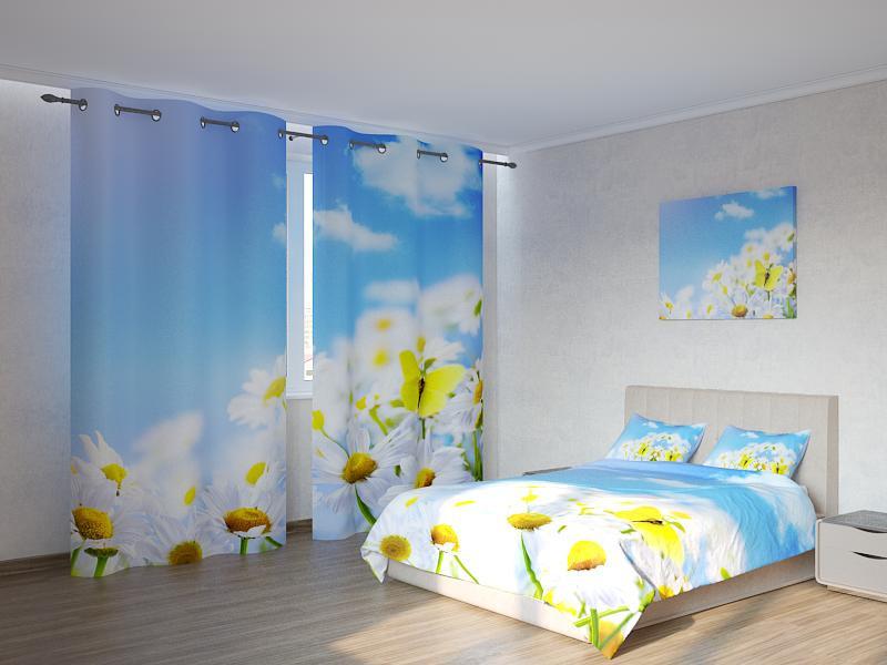 Фотокомплект Бабочки на ромашках Код: ART 4010