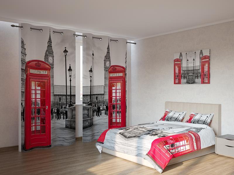 Фотокомплекты красные телефонные будки Код: ART 4029