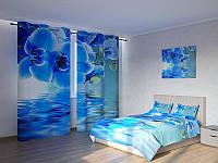 Фотокомплект Синяя орхидея над водой Код: ART 4050