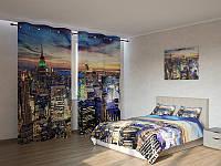 Фотокомплект Небоскребы Нью-Йорка вечером Код: ART 4055