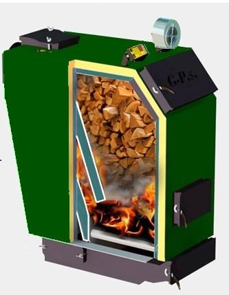 Котел Gefest-profi S 40 кВт двухзонного пиролиза, фото 2