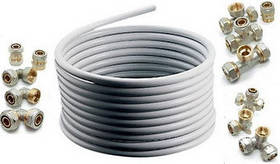 Металопластиковые трубы и фитинги.