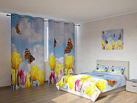 Фотокомплект бабочки в тюльпанах