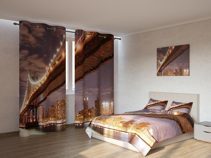 Фотокомплект Золотистый мост ночью Код: ART 4164