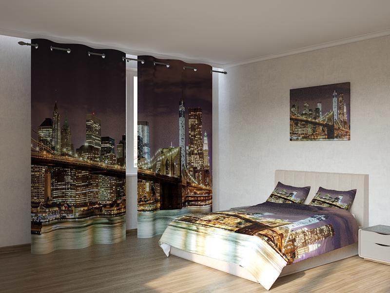 Фотокомплект Бруклинский мост ночью Код: ART 4165