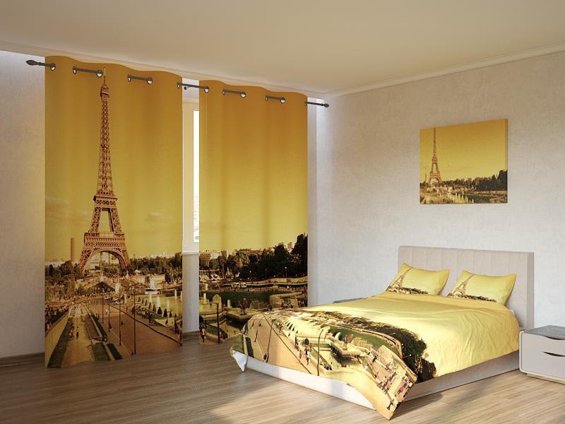 Фотокомплект Эйфелева башня на золотом фоне Код: ART 4207