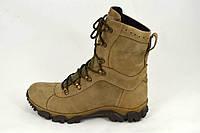 Тактические ботинки с высоким берцом коричнево цвета