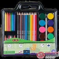 Zibi Набор для рисования (краски, карандаши, мелки, кисточки, точилка) арт. ZB.6400