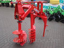 Бур навесной к трактору Wirax - 2 шнека (50 см, 25 см) (Польша)